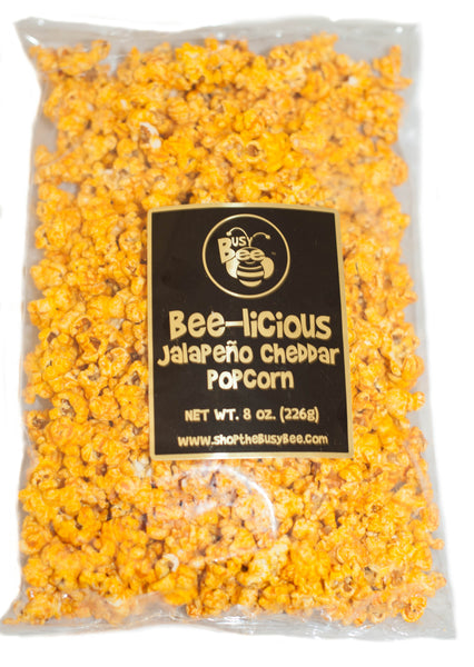 Bee-licious Cheddar Cheese Jalapeno Popcorn