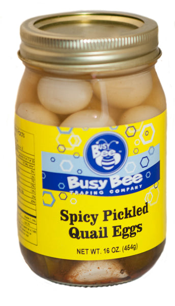 Spicy Pickled Quail Eggs