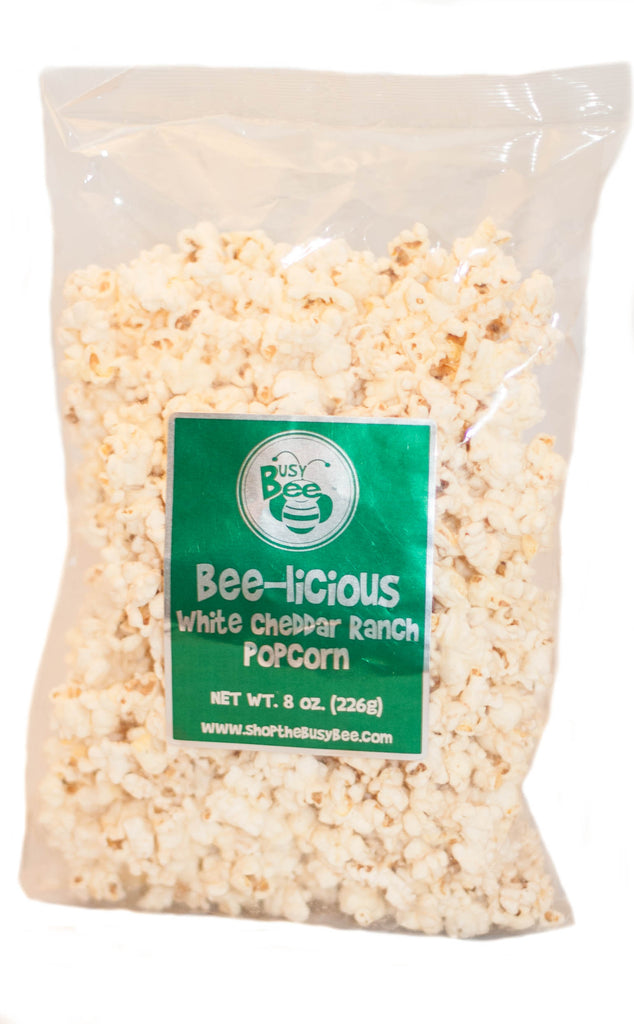 Bee-licious White Cheddar Ranch Popcorn