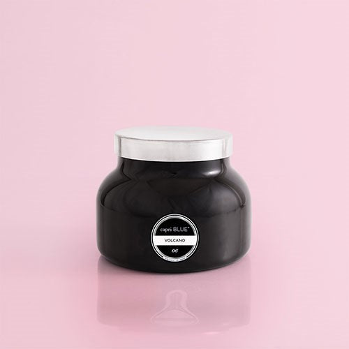 Capri Blue Volcano Candle Black Signature Jar