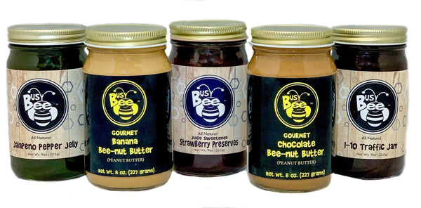 Bee-nut Butter and Jelly Combination