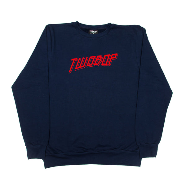 Cubism Crewneck Brushed Cotton Fleece // Navy
