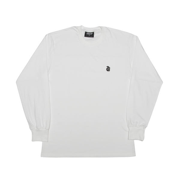 3rd Base Long sleeve tee // White