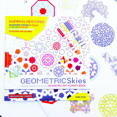 Geometric Skies Art Activity Book