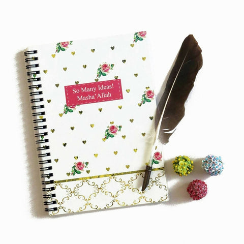 "Islamic Planner - ""So Many Ideas, MashaAllah"" Notebook"