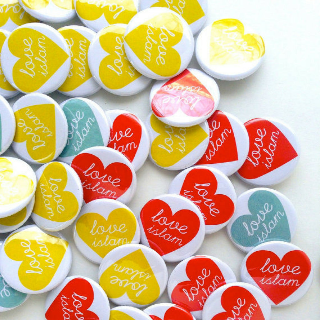 Love Islam Pin Button favor | Party favor