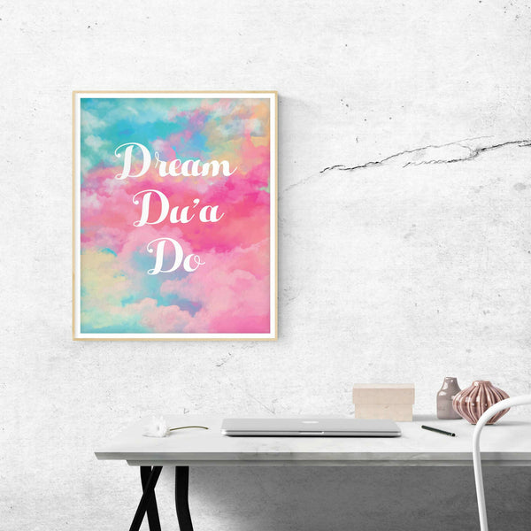 Inspirational Islamic wall art for girl's room