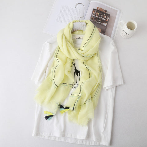 Light yellow hijab - withaspin.com