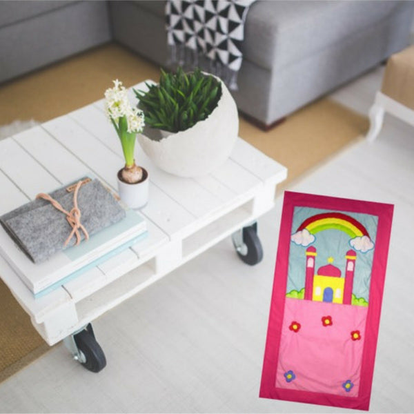 Colorful prayer rug to motivate kids for salah