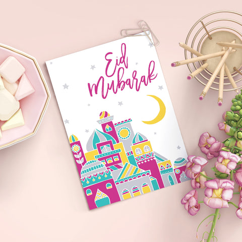 Eid Greeting Card | Muslim Holiday Card