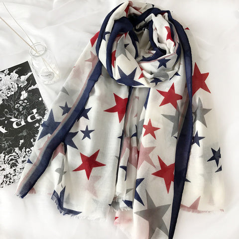 Red white and blue hijab