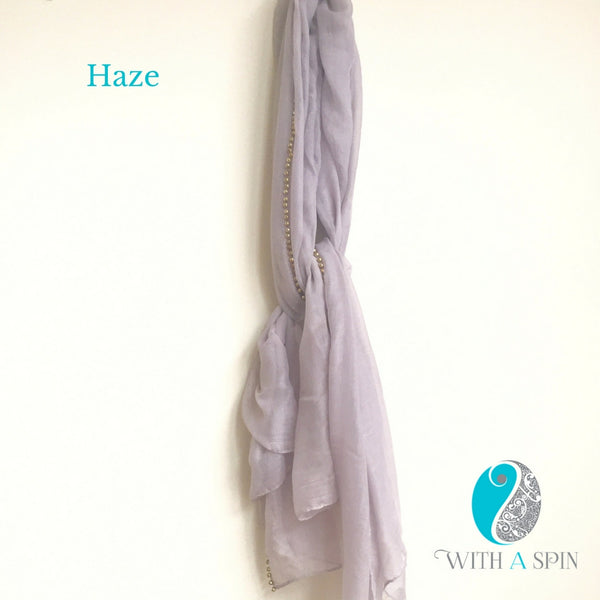 Neutral solid hijabs and scarves