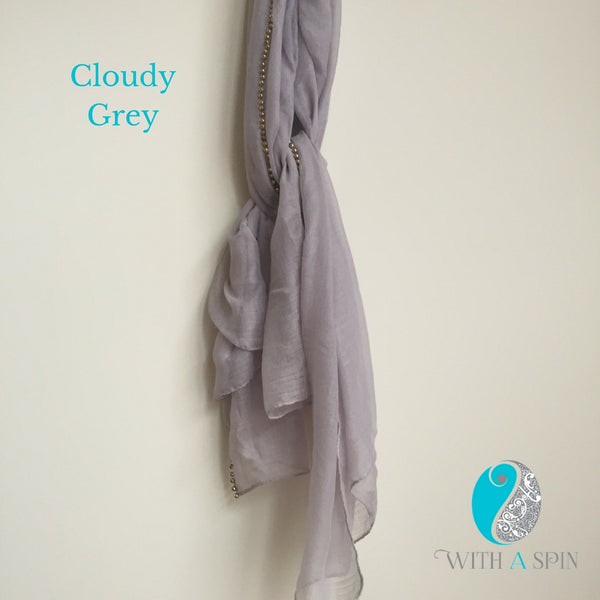 Grey hijab and scarf