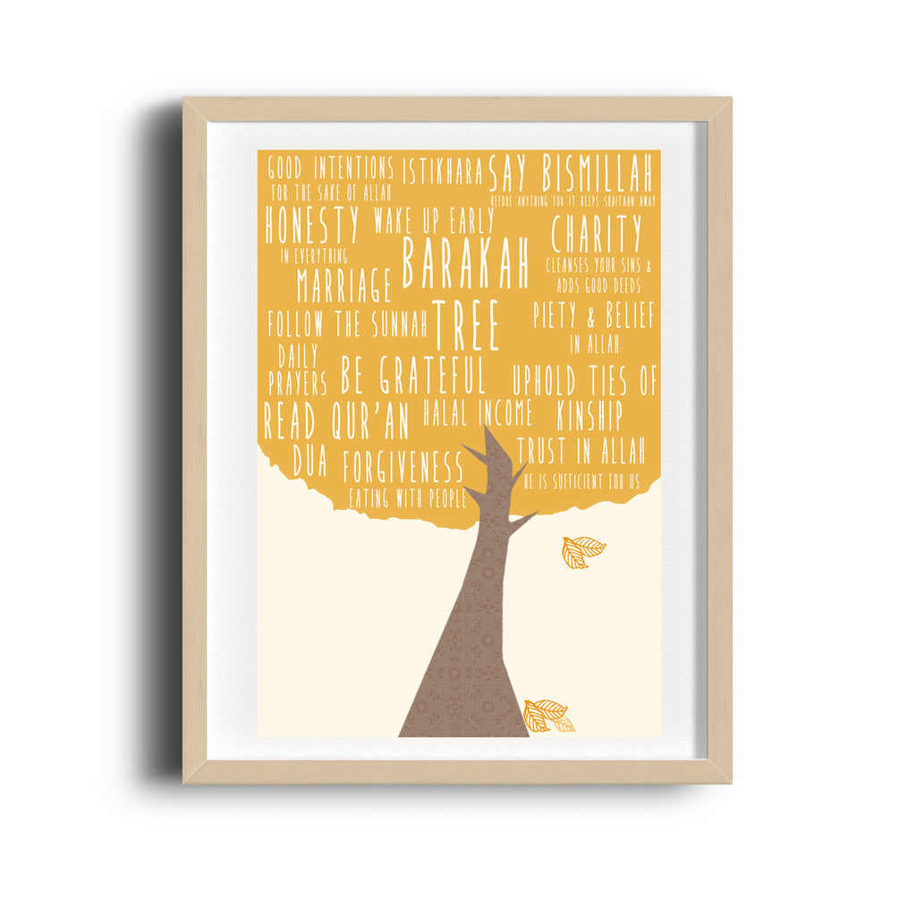 Barakah Tree Art print for Muslim home