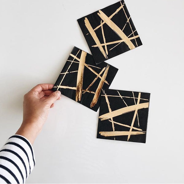 Black and Gold napkins