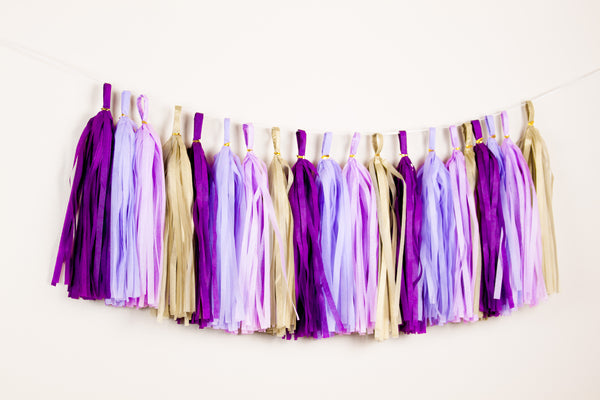 Purple Ramadan decor - Ramadan tassel garland - Eid decoraiton