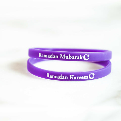 Silicon wrist band for Ramadan