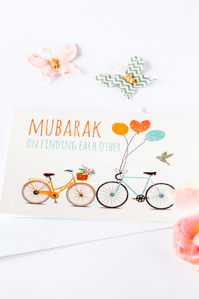 Greeting card for Muslim wedding