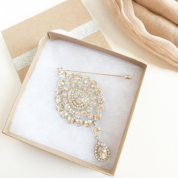 Luxury Sparkling Hijab Pins | Headware Scarf Jewelry