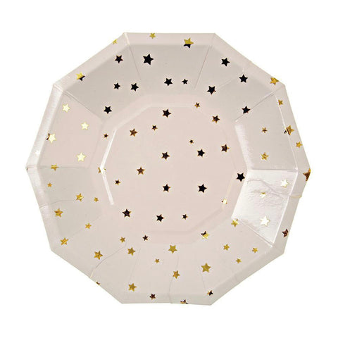 Sparkle Gold Foil Star Plate - Islamic Party Plates