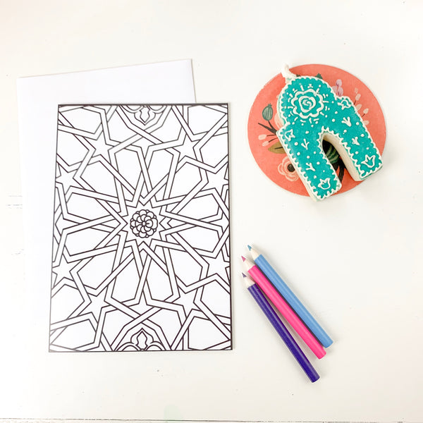 Coloring Greeting Card | DIY Coloring Greeting Card