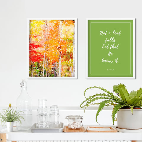 Autumn Quranic Ayah Wall Art