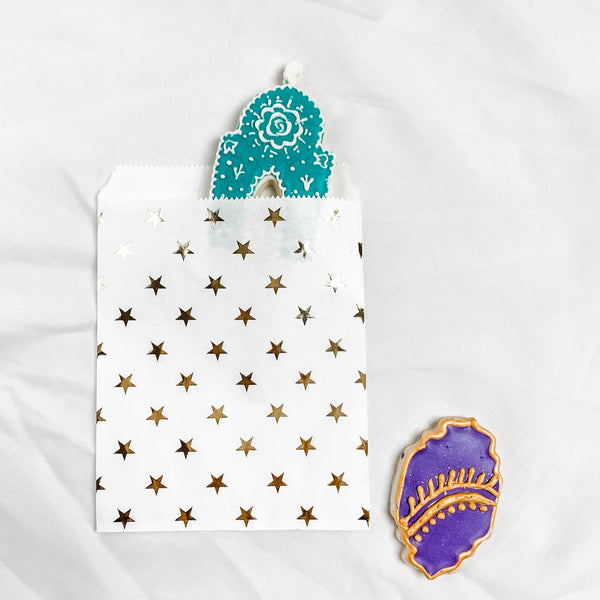 Party Bag with Foil Star - Islamic Theme (6 pack and 12 pack)