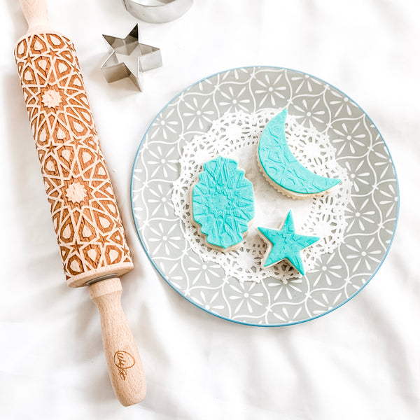 Ramadan Cookies - Engraved rolling pin