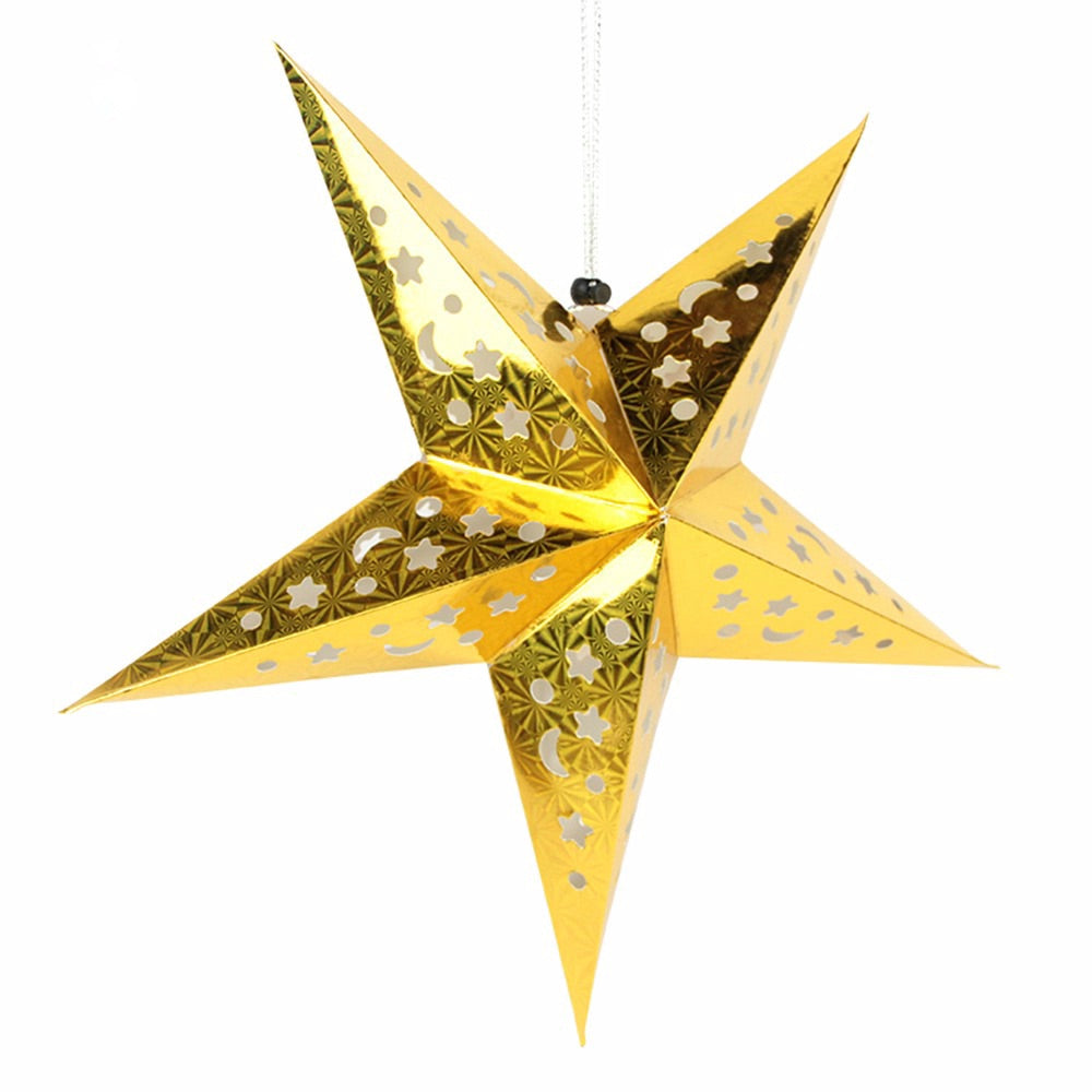 Medium Star lantern - Gold paper lantern 18inch
