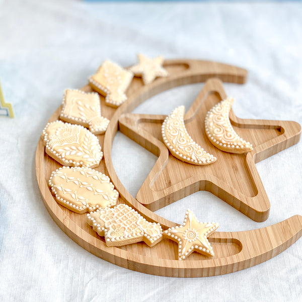 With A Spin Crescent and Star Tray Set