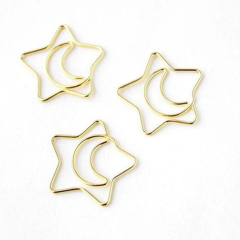 Mini Star and Moon paper clips | Children Party favor