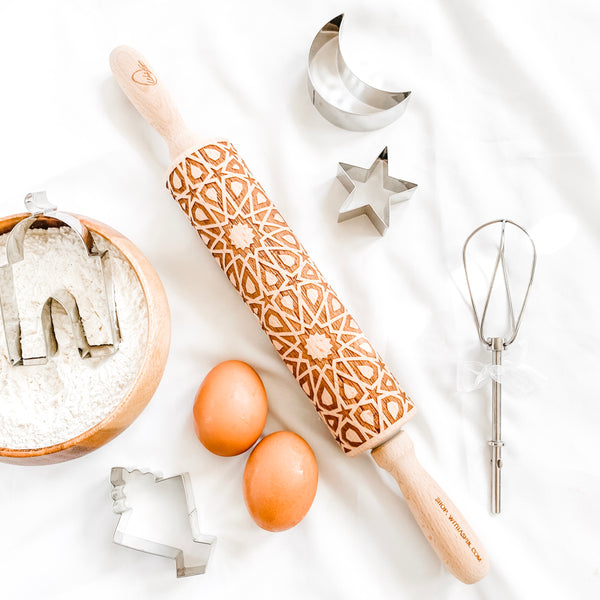Ramadan Baking - Engraved rolling pin