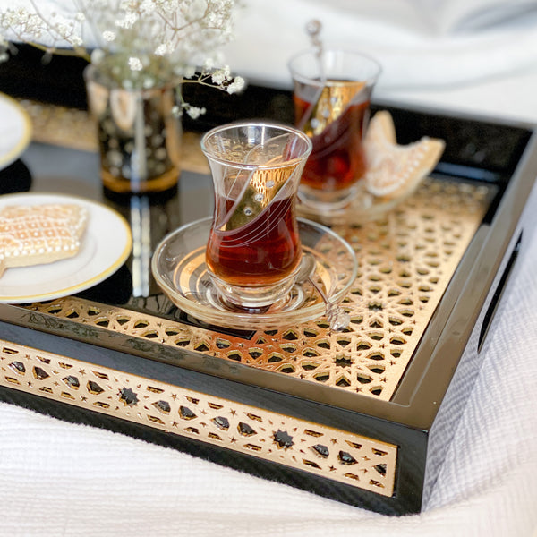 Zaina Luxury Serving Tray - Square