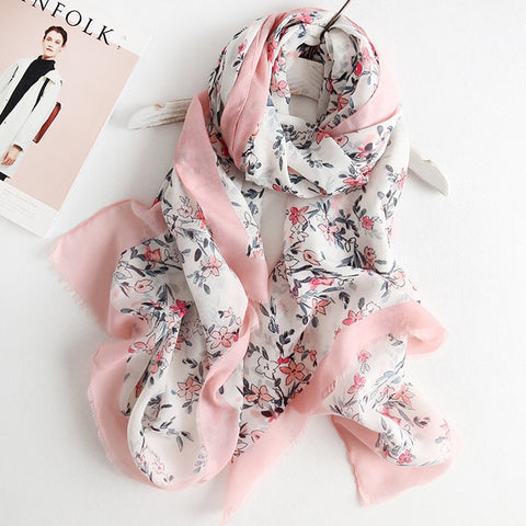Pearls and Corals Scarf - Pink | Designer Tassel Hijab