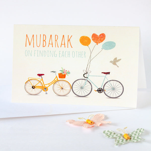 """Mubarak on Finding each other"" greeting card for Muslim couples"