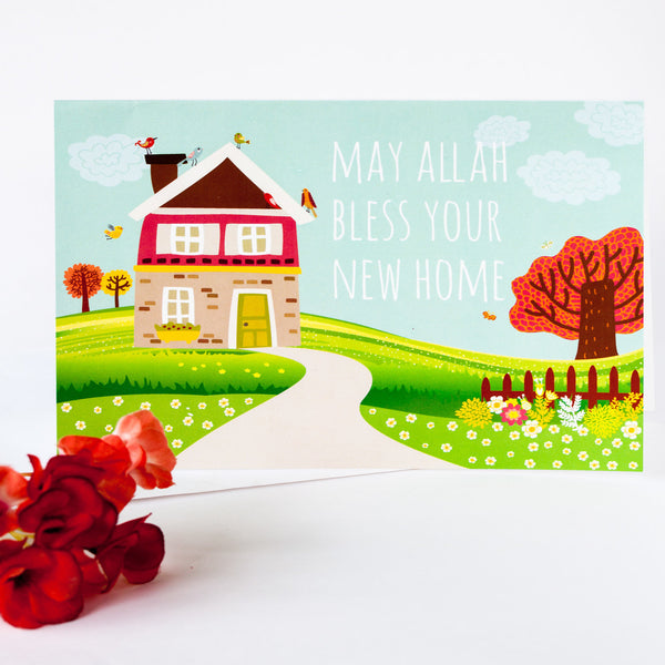 New Home greeting card for Muslim families