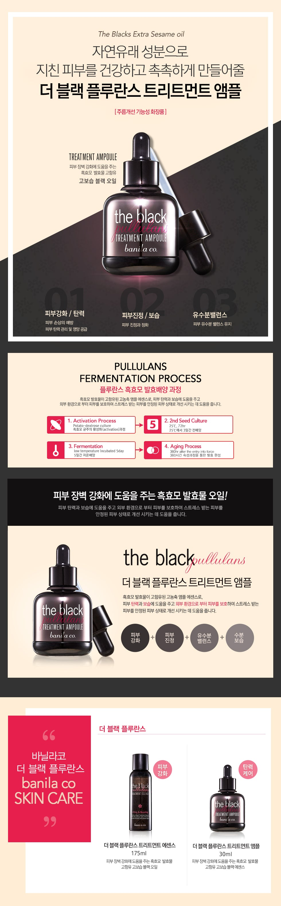 Banila Co - The Black Pullulans Treatment Ampoule