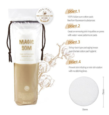 April Skin - Magic Som Pure Cotton Pads Premium Soft