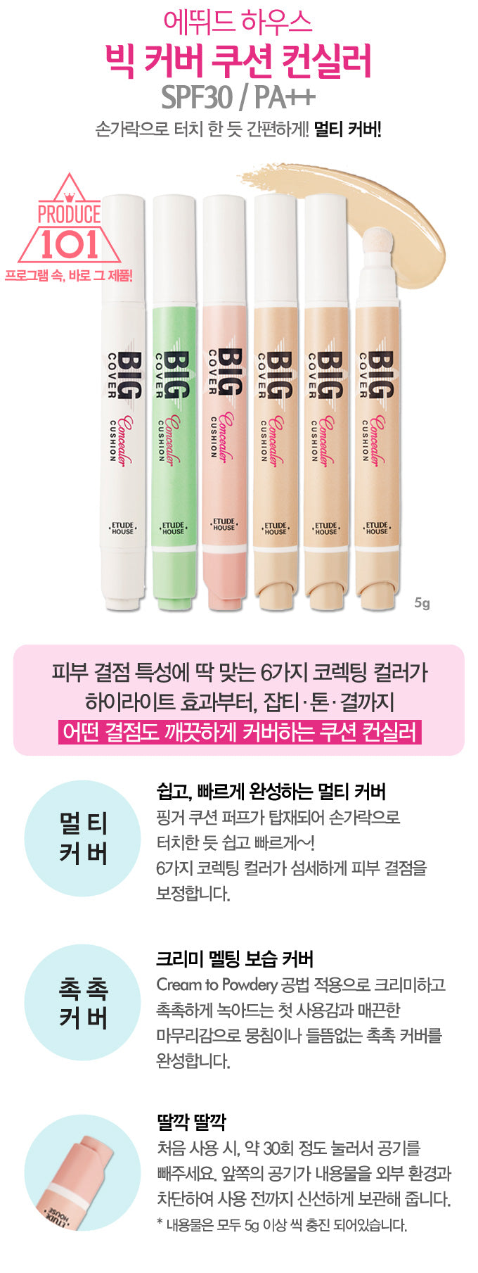 Etude House - Big Cover Cushion Concealer