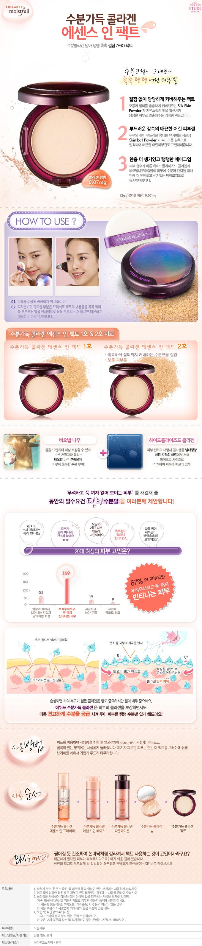 Etude House - Moistfull Collagen Essence In Pact
