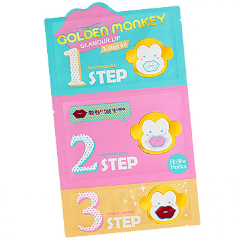 Holika Holika - Golden Monkey Glamour Lip 3 Step Kit