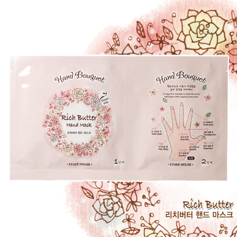 Etude House - Hand Bouquet Rich Butter Hand Mask 16g x 5paket