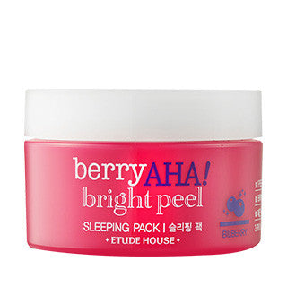 Etude House -  Berry AHA Bright Peel Sleeping Pack