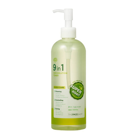 The Face Shop -  9 In 1 Skin Solution Toner 400ml