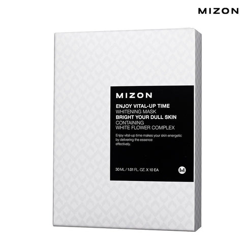 Mizon - Enjoy Vital-Up Time - Whitening Mask-Set 30ml x 10ad