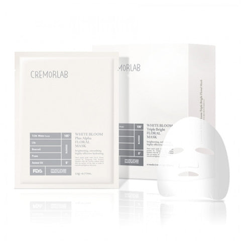 Cremorlab - White Bloom Triple Bright Floral Mask - 28g x 10 paket