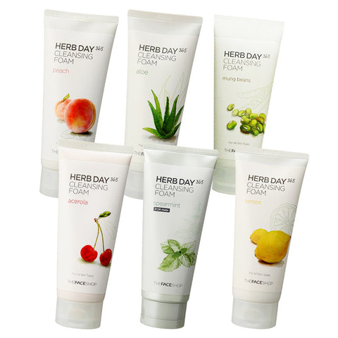 The Face Shop - Herb Day Cleansing Foam 170ml