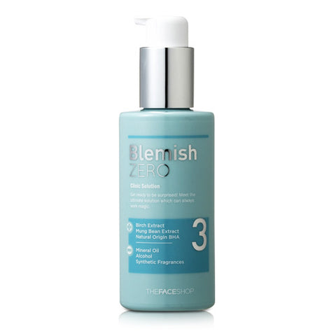 The Face Shop - Clean Face Blemish Zero Clinic Solution 150ml