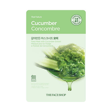 The Face Shop - Real Nature Cucumber Face Mask