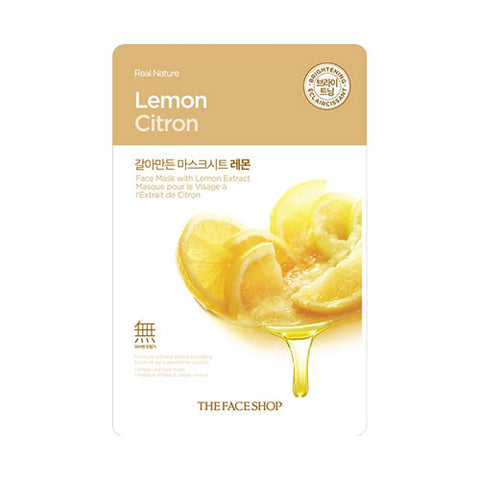 The Face Shop - Real Nature Lemon Face Mask